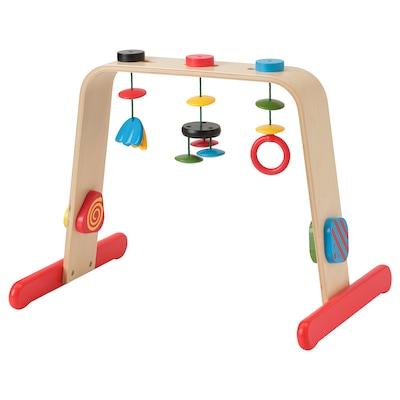 LEKA baby gym birch/multicolour 55 cm 43 cm