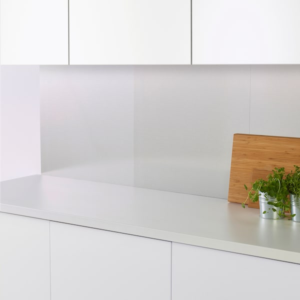 LEKSTORP wall panel stainless steel 60 cm 66 cm 1 mm