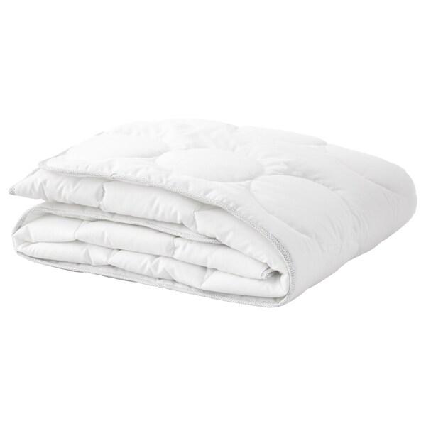 LENAST quilt for cot white/grey 125 cm 110 cm 300 g 720 g
