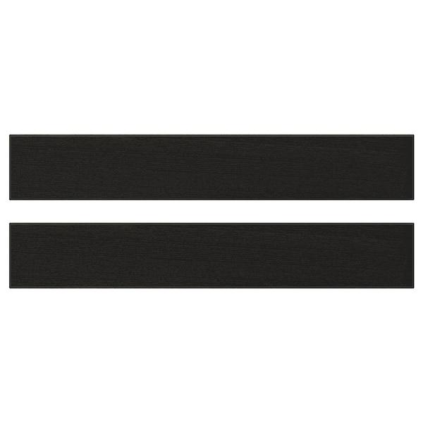 LERHYTTAN Drawer front, black stained, 60x10 cm