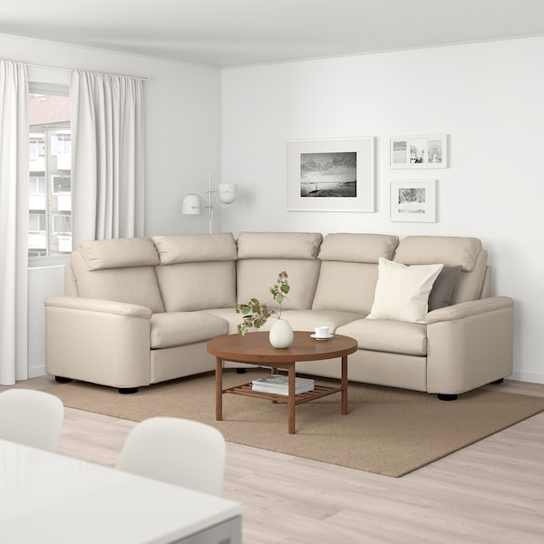 LIDHULT Corner sofa, 4-seat - Gassebol light beige - IKEA