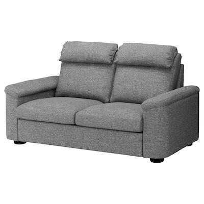 LIDHULT 2-seat sofa Lejde grey/black 102 cm 76 cm 189 cm 98 cm 7 cm 141 cm 53 cm 45 cm