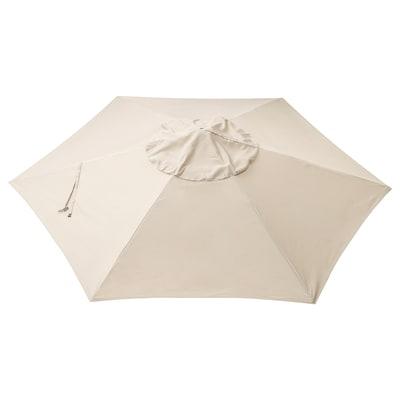 LINDÖJA Parasol canopy, beige, 300 cm