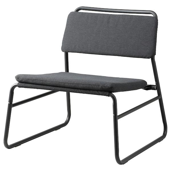 LINNEBÄCK Easy chair, Vissle dark grey