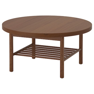 LISTERBY Coffee table, brown, 90 cm