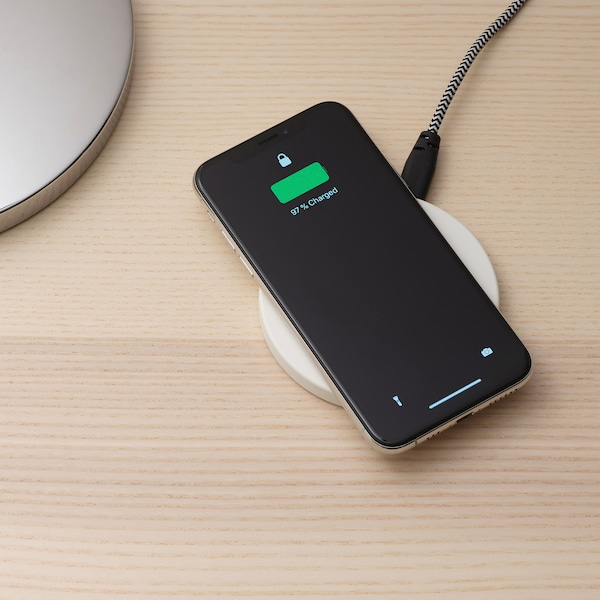 LIVBOJ wireless charger white 10 mm 91 mm