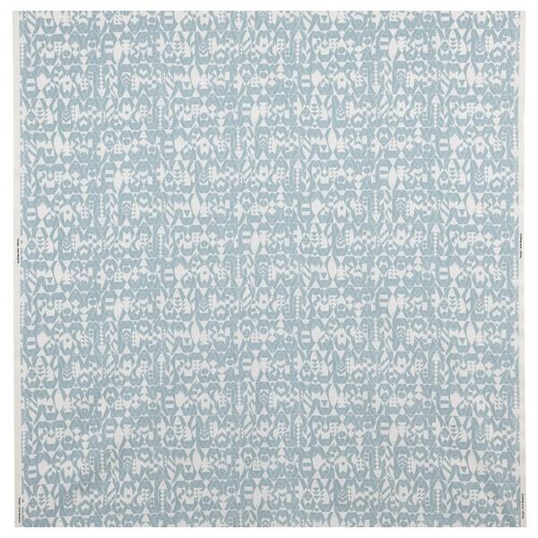 LOTTALI Fabric, light blue/natural colour, 150 cm