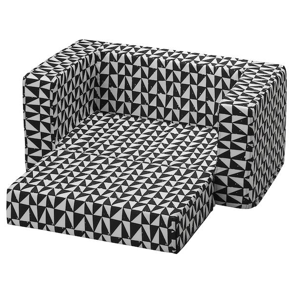 LURVIG cover for cat/dog bed black/white 70 cm 68 cm 30 cm