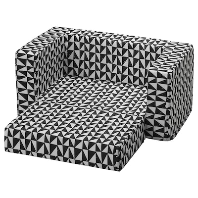 LURVIG Cover for cat/dog bed, black/white, 68x70 cm