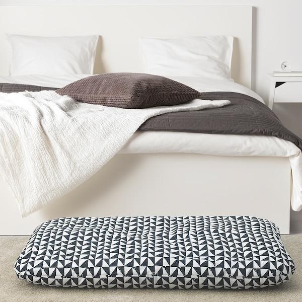 LURVIG cushion black/triangle 100 cm 62 cm 14.0 cm 1200 g 1785 g