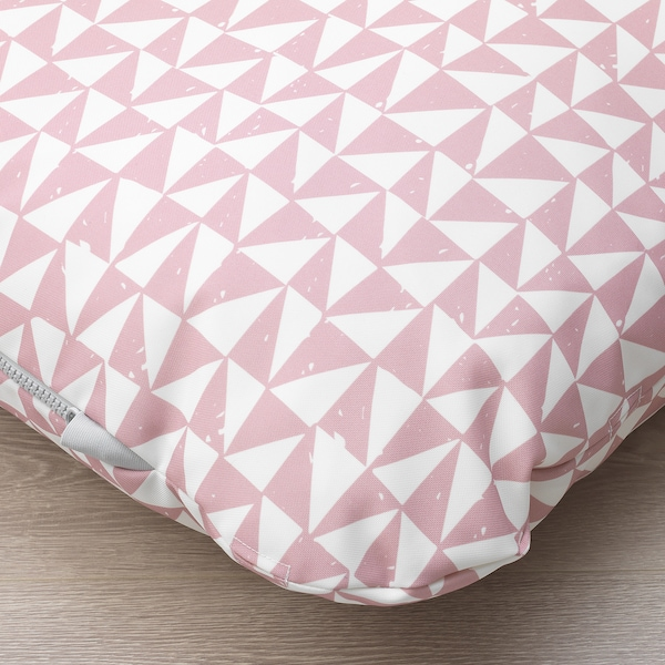 LURVIG cushion pink/triangle 100 cm 62 cm 14.0 cm 1200 g 1785 g