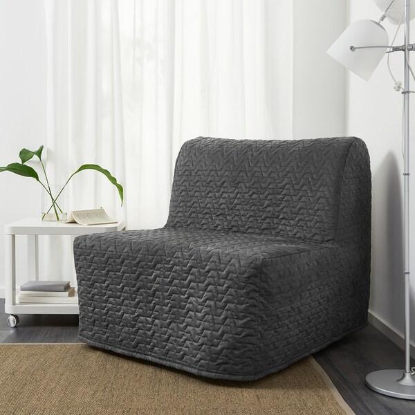 LYCKSELE HÅVET chair-bed Vallarum grey 80 cm 100 cm 87 cm 60 cm 39 cm 80 cm 188 cm 188 cm 80 cm 10 cm
