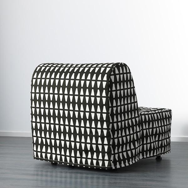 LYCKSELE LÖVÅS chair-bed Ebbarp black/white 80 cm 100 cm 87 cm 60 cm 39 cm 80 cm 188 cm 188 cm 80 cm 10 cm