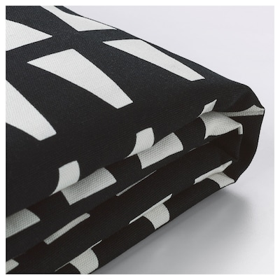 LYCKSELE two-seat sofa-bed cover Ebbarp black/white