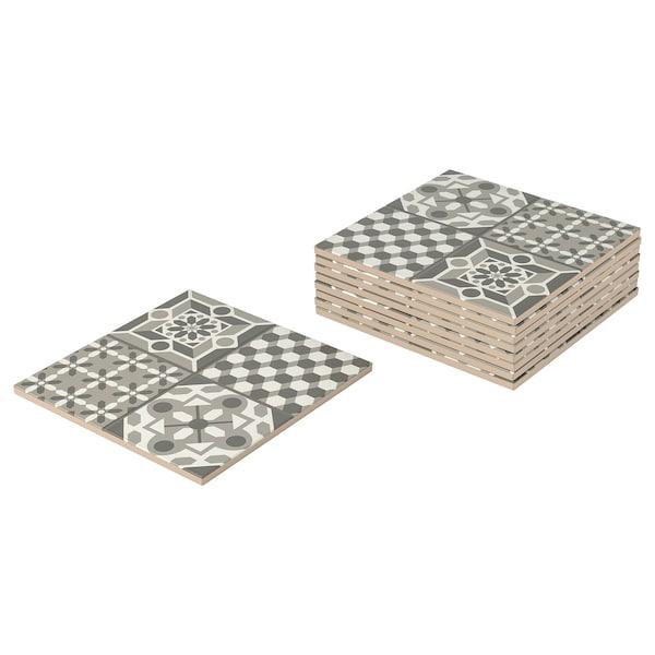 MÄLLSTEN top part, outdoor floor decking grey/white 0.81 m² 30 cm 30 cm 12 mm 0.09 m² 9 pack