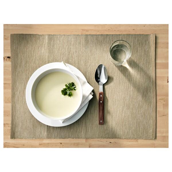 MÄRIT place mat beige 45 cm 35 cm