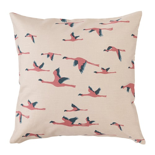 MAJBRITT Cushion cover IKEA You can easily vary the look because the two sides have different designs. The zipper makes the cover easy to remove.
