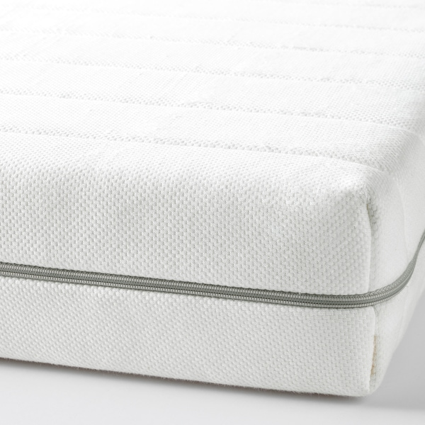 MALFORS foam mattress firm/white 200 cm 90 cm 12 cm