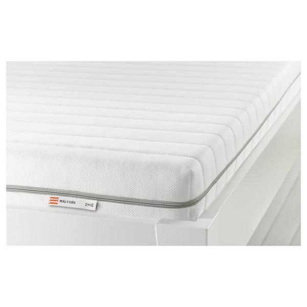 MALFORS foam mattress medium firm/white 200 cm 90 cm 12 cm