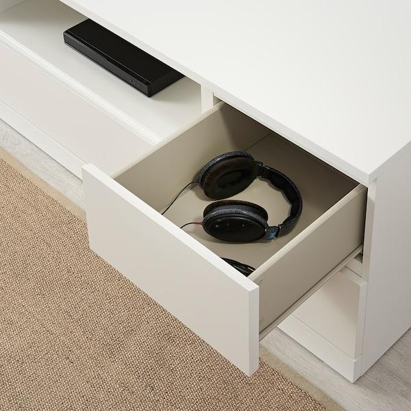 MALM TV bench, white, 160x48 cm