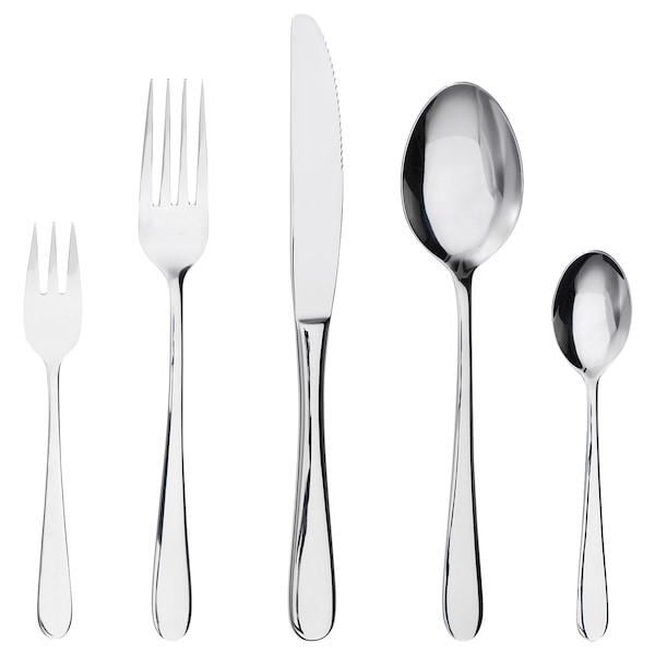 MARTORP 30-piece cutlery set stainless steel
