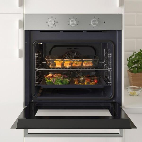 MATÄLSKARE forced air oven stainless steel colour 59.5 cm 55.0 cm 59.5 cm 0.9 m 30 kg