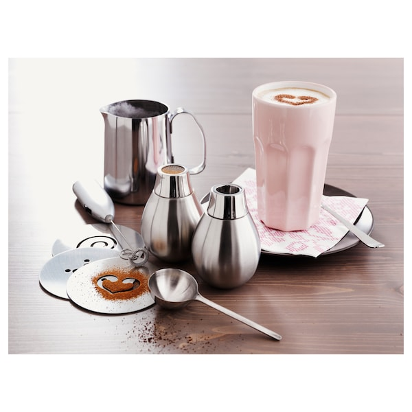 MÅTTLIG milk-frothing jug stainless steel 11 cm 0.5 l