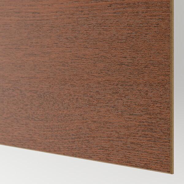 MEHAMN 4 panels for sliding door frame, black-brown stained ash effect/brown stained ash effect, 75x236 cm
