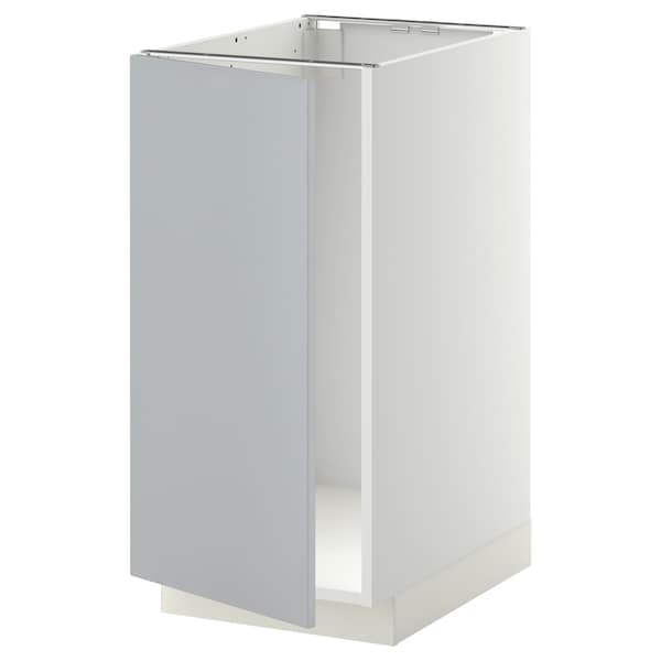 METOD Base cab f sink/waste sorting, white/Veddinge grey, 40x60 cm