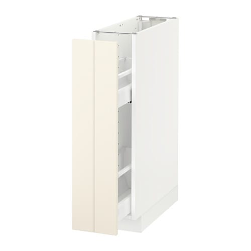 Metod Base Cabinet Pull Out Int Ings White Hittarp Off 20x60 Cm Ikea