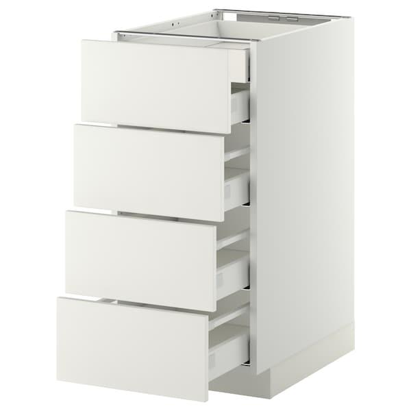 METOD Base cb 4 frnts/2 low/3 md drwrs, white/Häggeby white, 40x60 cm