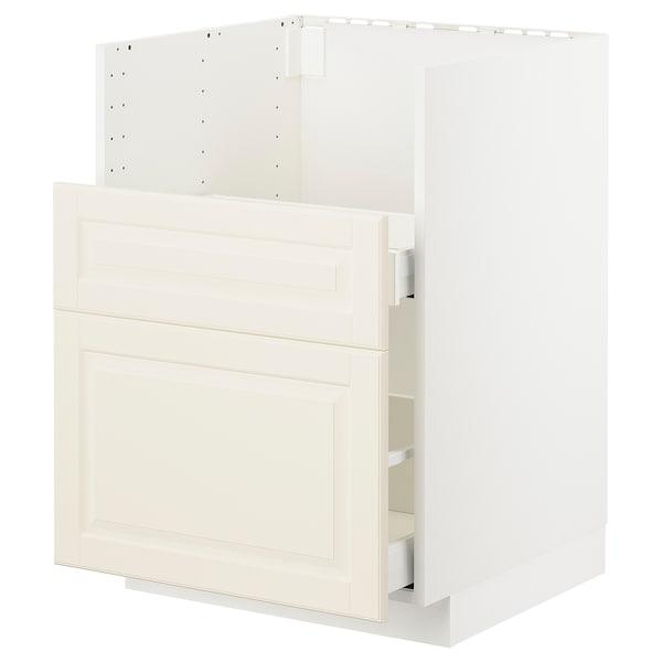 METOD Bc f BREDSJÖN sink/2 fronts/2 drws, white/Bodbyn off-white, 60x60 cm