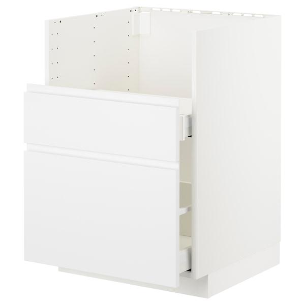 METOD Bc f BREDSJÖN sink/2 fronts/2 drws, white/Voxtorp matt white, 60x60 cm