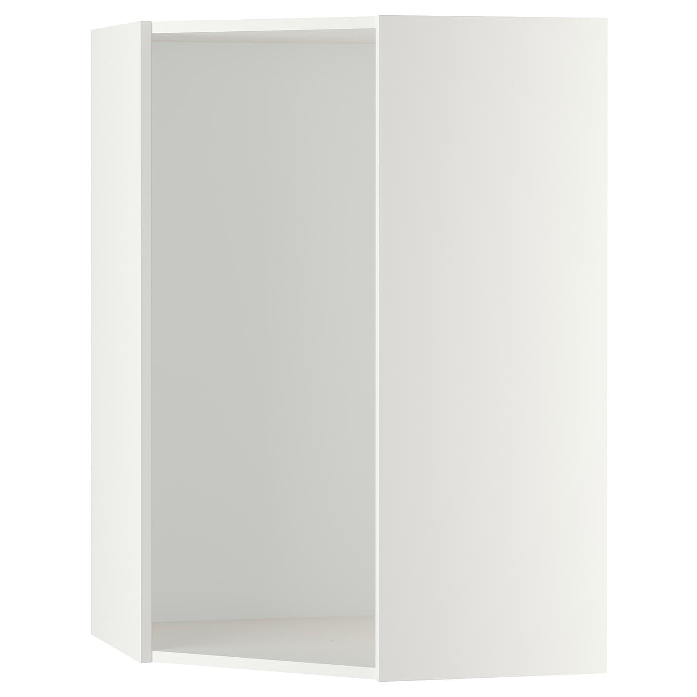 Metod Corner Wall Cabinet Frame White 68x68x100 Cm Ikea