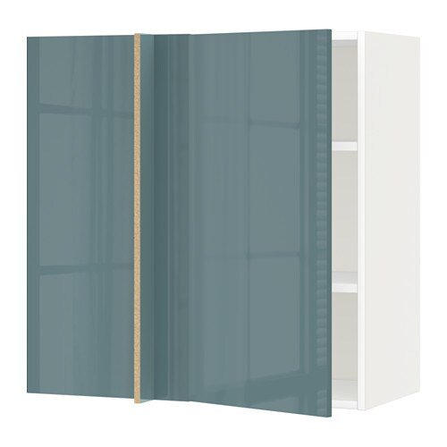 Metod corner wall cabinet with shelves white kallarp for Ikea turquoise shelf