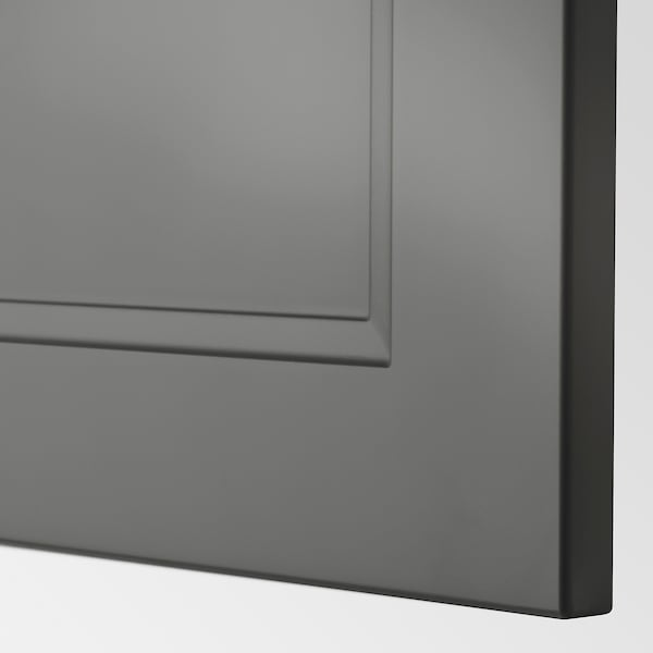 METOD Hi cab f fridge or freezer w 2 drs, black/Axstad dark grey, 60x60x200 cm