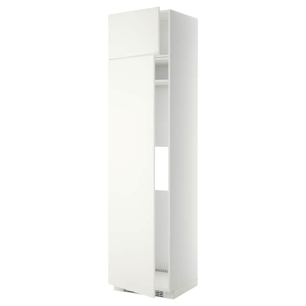 METOD Hi cab f fridge or freezer w 2 drs, white/Häggeby white, 60x60x240 cm