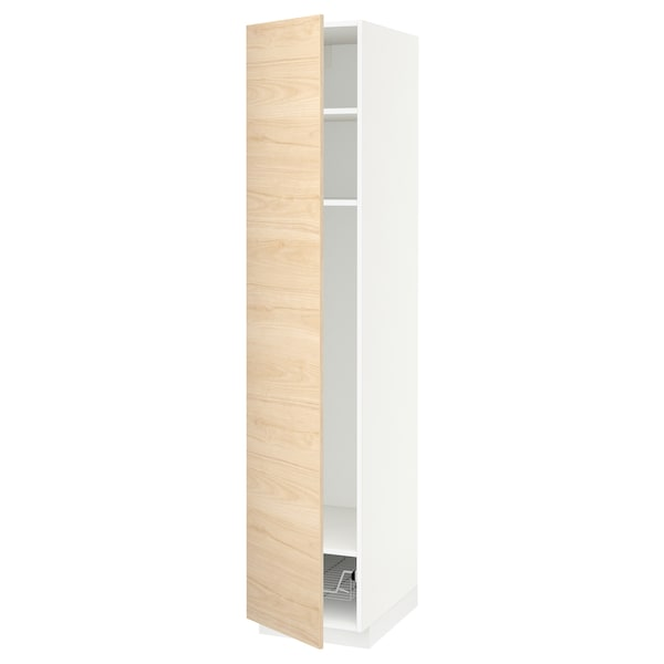Metod High Cabinet W Shelves Wire Basket White