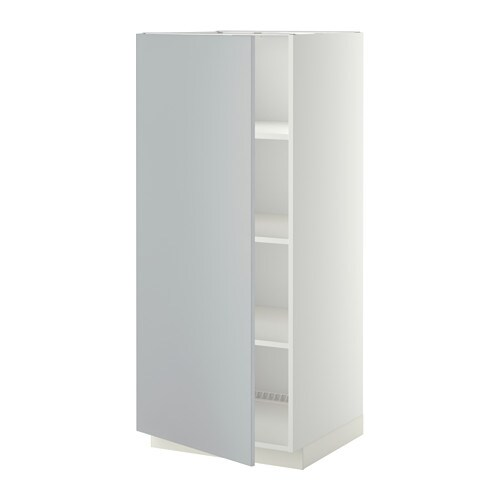 Metod High Cabinet With Shelves White Veddinge Grey