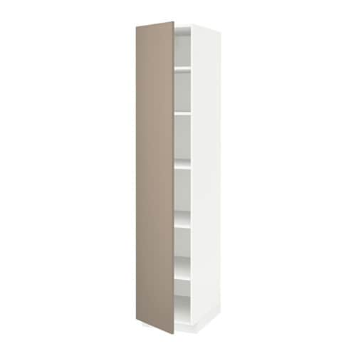 Metod High Cabinet With Shelves White Häggeby White 60x60x200 Cm