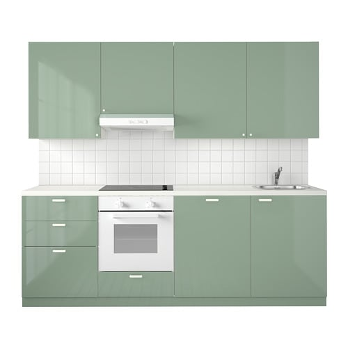 Metod Kitchen White Maximera Kallarp Light Green