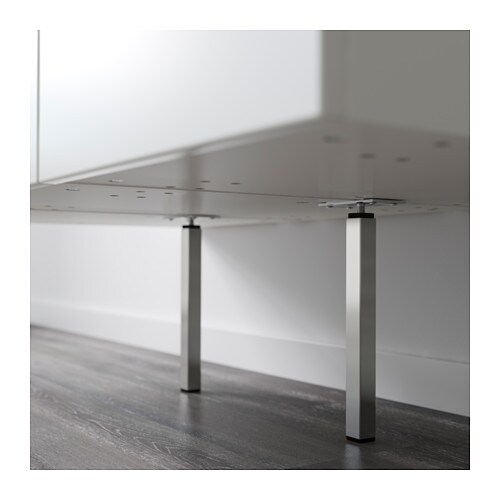 METOD Supporting leg IKEA Stands steady on uneven floors because it has adjustable feet.  25 year guarantee.