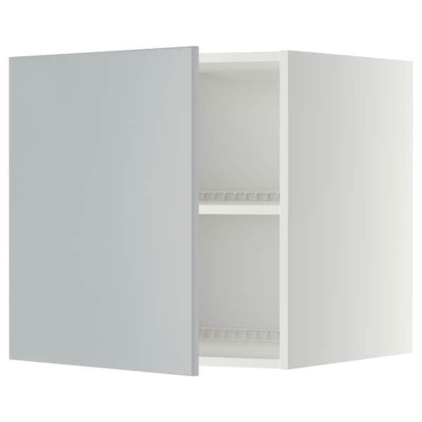 METOD Top cabinet for fridge/freezer, white/Veddinge grey, 60x60 cm