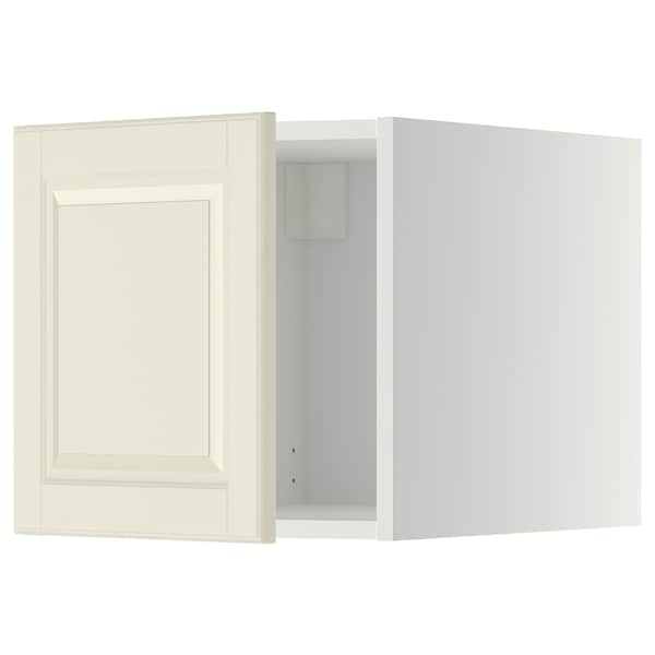 METOD Top cabinet, white/Bodbyn off-white, 40x40 cm