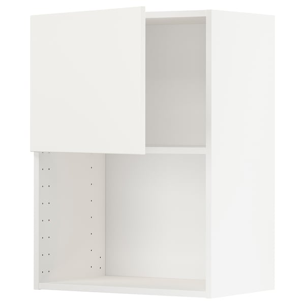 METOD Wall cabinet for microwave oven, white/Voxtorp matt white, 60x80 cm