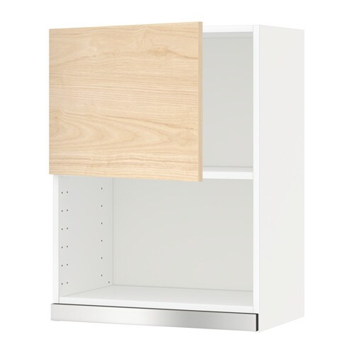 Metod Wall Cabinet For Microwave Oven White Veddinge 60x80 Cm Ikea