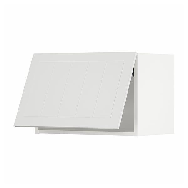 METOD Wall cabinet horizontal, white/Stensund white, 60x40 cm
