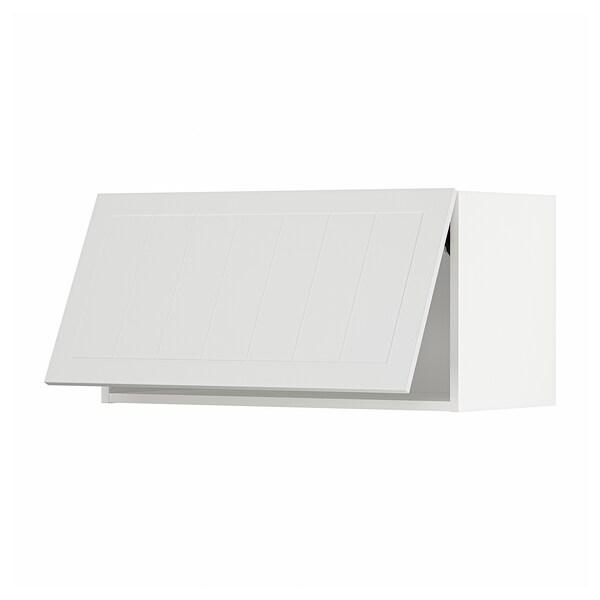 METOD Wall cabinet horizontal, white/Stensund white, 80x40 cm