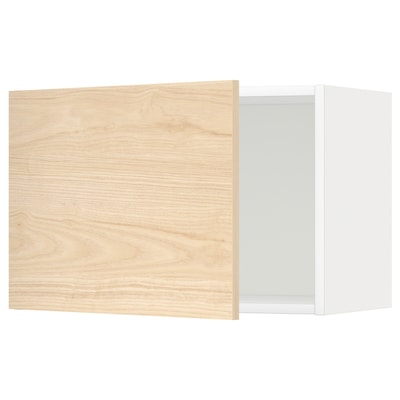 METOD Wall cabinet, white/Askersund light ash effect, 60x40 cm