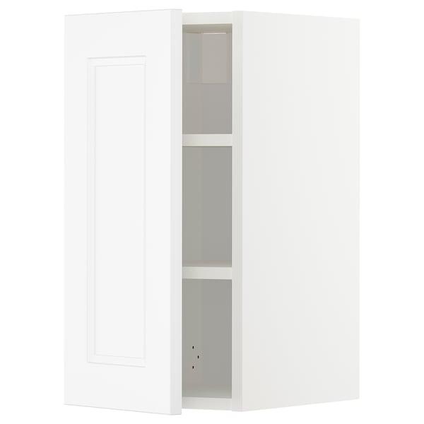 METOD Wall cabinet with shelves, white/Axstad matt white, 30x60 cm